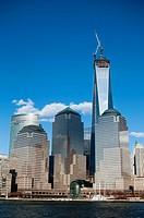 World Trade Center and Lower Manhattan Buildings, New York City.
