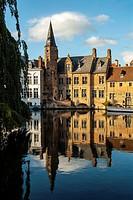 Rozenhoedkaai. Bruges, West Flanders, Belgium.