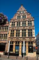 Facade. Ghent, West Flanders, Belgium.