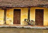 traditional architecture in Tam Coc, Vietnam.
