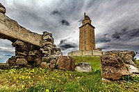 Torre de Hércules World Heritage Site and National Monument, La Coruña, Galicia, Spain