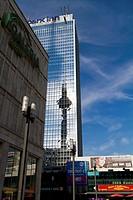 Architecture around Alexanderplatz in Berlin, Germany.