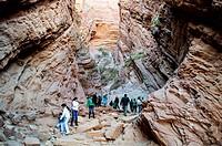 Geological formation called ´Garganta del Diablo´ Devil´s Throat, Province of Salta, Argentina.