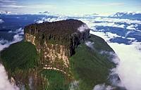 Aerial view of Aparaman-tepuy in tne Gran Sabana, Canaima National Park, Bolivar State, Southern Venezuela.