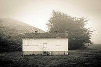 Empty military cabin, Golden Gate National Recreation Area, Sausalito, California, United States.