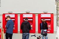 Cash Withdrawal in the Schanzenviertel of Hamburg, Germany.