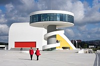 The Oscar Niemeyer International Cultural Centre, known as Centro Niemeyer, is the result of the combination of a cultural complex designed by Oscar N...