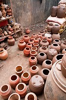 Pottery in the Dharavi Slum of Mumbai, India.
