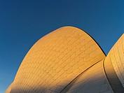 Sydney Harbour SYDNEY AUSTRALIA Sydney Opera House roof evening.