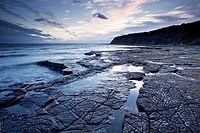Kimmeridge Bay on the Jurassic coastline of Dorset, England, UK.