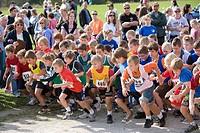 North America, Canada, Ontario, children running in a race.