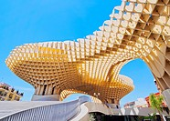 Metropol Parasol on La Encarnacion Square in Seville, Andalusia, Spain.