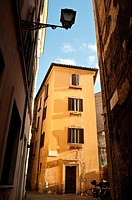Atmospheric corner in the rione of Sant'Angelo, Rome Italy.