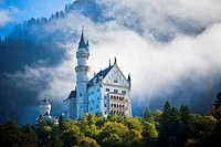 Germany, Bavaria, Fussen, Neuschwanstein castle.