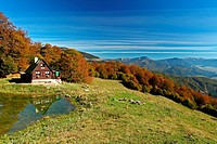 The mountain refuge Limba located in the valley Tepla dolina, NP Velka Fatra, Slovakia.