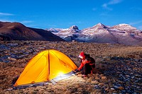 Camping at the National Park of Ordesa and Monte Perdido, Huesca, Spain.
