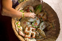 Hindu goan sweets made for baby shower, Goa, India.