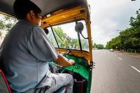 Auto rickshaw driver, New Delhi, India.