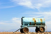 Water tank trailer - Dahab, Sinai Peninsula, Egypt.