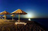 Moonshine in the gulf of Aqaba - Dahab, Sinai Peninsula, Egypt.