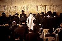 Jews praying at the Western Wall (Jerusalem).
