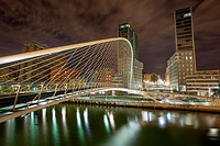 Isozaki towers at Bilbao Riverside, Biscay, Basque Country, Spain.