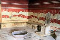 Knossos archaeological site, Crete, Greece.