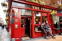 Dublin, Temple Bar Street.