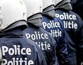 Belgian police officers.