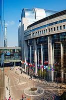 European Parliament headquarters.