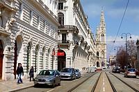 Vienna city hall tower.