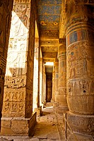 Temple of Medinet Habu dedicated to Ramesses III, on the West bank of the Nile at Luxor, Egypt.