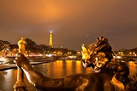 The view from Pont Alexandre III along the river Seine.