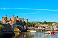Conwy Castle, Conwy, Gwynedd, Wales, UK.