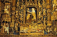 Chapel of St. Anne, altarpiece by Gil de Siloé, XV century, Cathedral, Burgos, Spain