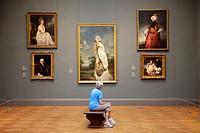 Visitor at Metropolitan Museum, New York City, USA.