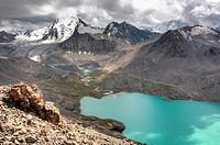 Ala Kul (Ala Kol) lake (3560 m), Issyk Kul oblast, Kyrgyzstan.