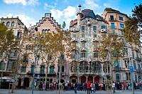 Casa Batllo, Barcelona, Catalonia, Spain.