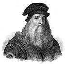 Leonardo da Vinci, 1452 - 1519, Italian painter, sculptor, architect and engineer,.
