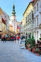St. Michael Gate, Bratislava, Slovakia.