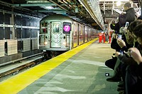 Public officials arrive at the new 34th Street-Hudson Yards terminal station on the 7 Subway line extension in New York. The new tunnel from Times Squ...