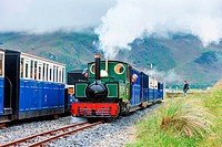 steam trains, Fairbourne narrow gauge railway, Wales.