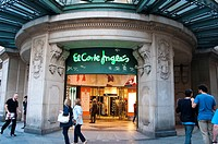 El Corte Ingles department store in Avenida Portal de L´ Angel, Barcelona, Catalonia, Spain.