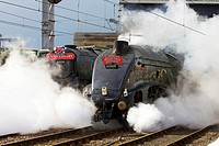LMS Princess Coronation Class 46233 Duchess of Sutherland pulling the 75th Anniversary special and LNER Class A4 60009 Union of South Africa at Carlis...