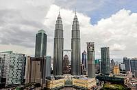Petronas towers, Kuala Lumpur, Malaysia, Asia.