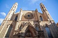 Santa Maria del Mar facade,Barcelona.