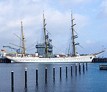 The tall ship of the German Navy called Gorch Fock.