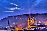 St Nicholas Church Lesser Town Prague Czech Republic