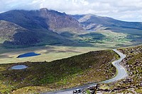 The Conor Pass in County Kerry, Ireland.