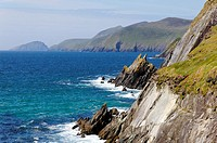 The coastline of the Dingle Peninsula in County Kerry, Ireland.